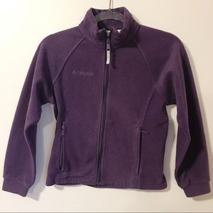 Columbia Girls purple fleece